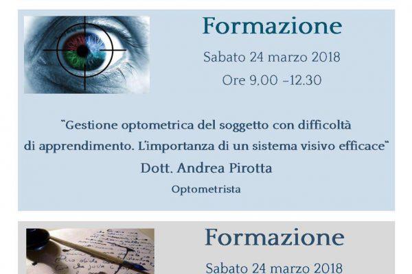 Formazione – Pirotta, De Carlo – 24 marzo 2018